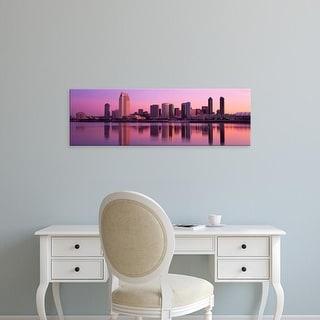 Easy Art Prints Panoramic Images's 'USA, California, San Diego, twiilight' Premium Canvas Art