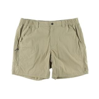 White Sierra Mens Relaxed Waist Stretch Khaki Shorts - L