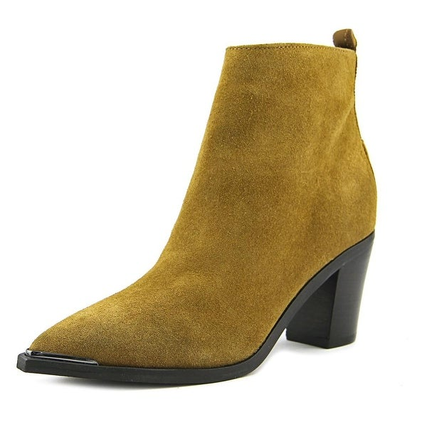 Marc Fisher Nellien Women Pointed Toe Suede Tan Ankle Boot