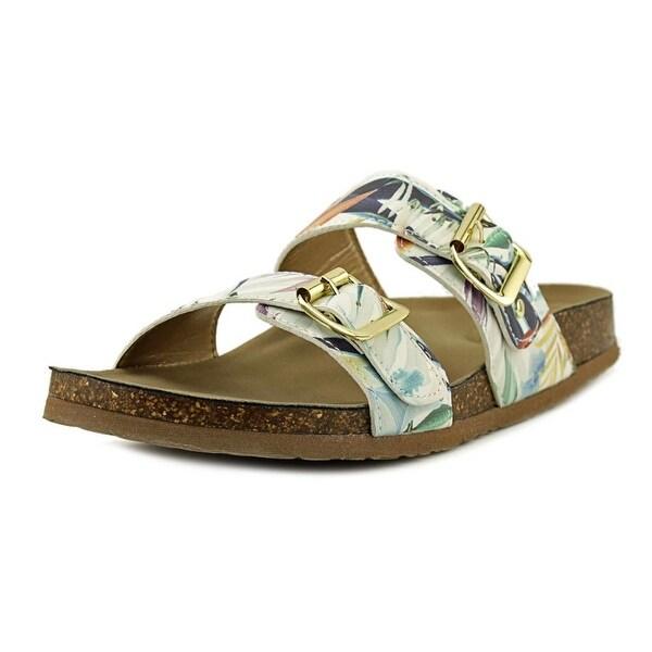 Madden Girl Brando Women Open Toe Synthetic Green Slides Sandal