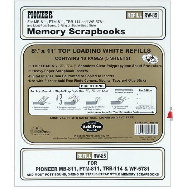 Pioneer Photo Albums Rw85 85 X 11 White Top Loading Scrapbook