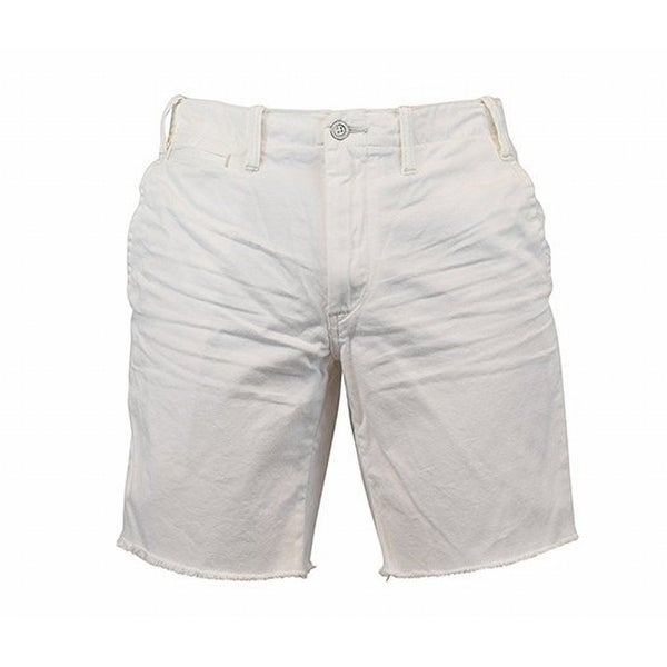 bcb1984a8d Shop Polo Ralph Lauren NEW White Mens Size 36 Frayed Hem Denim Cotton Shorts  - Free Shipping On Orders Over $45 - Overstock - 21463657