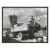 ''Farmers Market, Montgomery County, Maryland, 1942'' by Anon Transportation Art Print (16 x 20 in.)