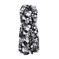 Tommy Hilfiger Women's Printed Sleeveless A-Line Dress (16, Black Multi) - Black Multi - 16