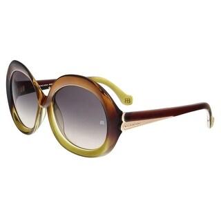 Balenciaga BA0007 47B Khaki Gradient Round Sunglasses - 58-17-140