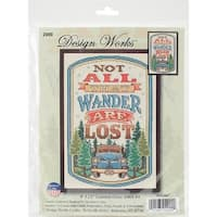 """All That Wander Counted Cross Stitch Kit-8""""X12"""" 14 Count"""