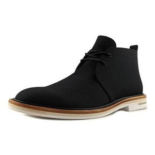 Calvin Klein Jonas Men Wingtip Toe Canvas Black Chukka Boot