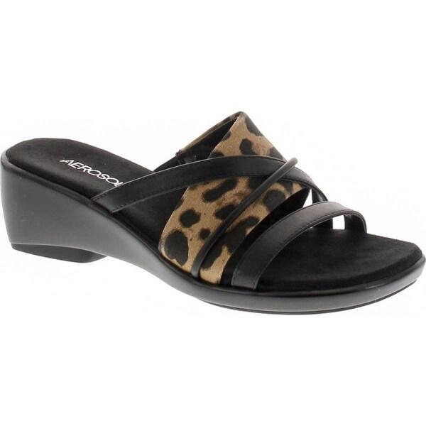 Aerosoles Women's Flagship Wedge Sandal - leopard combo