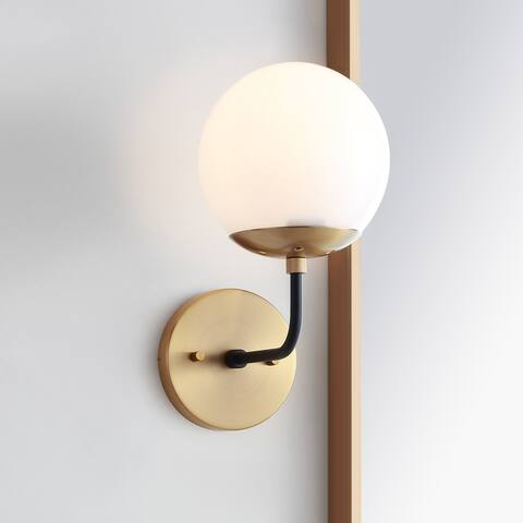 "Safavieh Lighting Cayden Brass LED Wall Sconce - 6""x8""x11"""