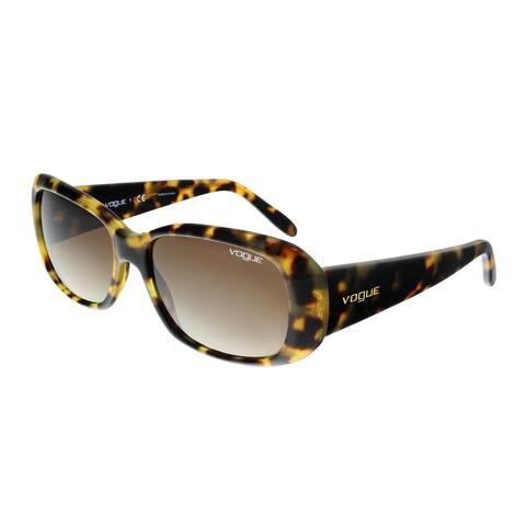 Vogue VO2606S 260513 Brown Yellow Tortoise Rectangle Sunglasses - 55-15-135