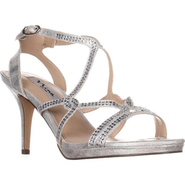 Nina Varsha Strappy Dress Sandals, Silver