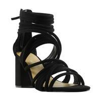 Laya Womens Z2182 Black Strappy Heels Size 7