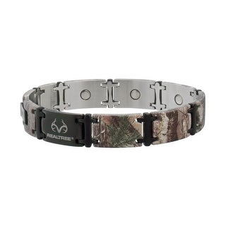 Sabona Jewelry Mens Bracelet Realtree Stainless Magnetic Brown 446