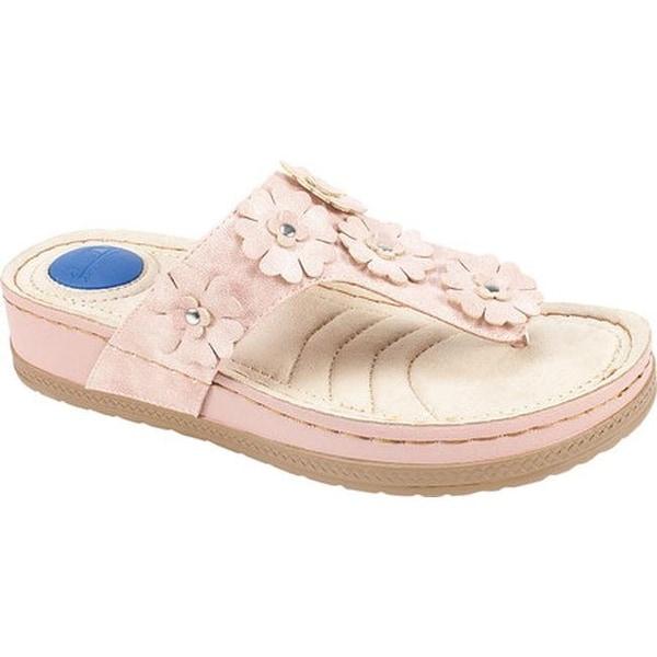 a6ea8b3314 Cliffs by White Mountain Women  x27 s Cardella Thong Sandal Pale Pink Smooth  Polyurethane