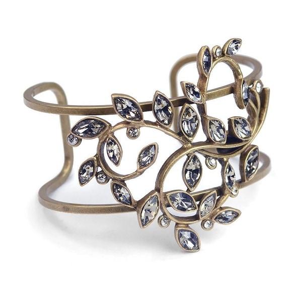 Women's Jeweled Vine Cuff Bracelet - bronze