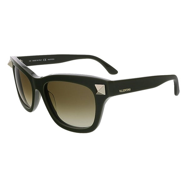 Valentino V656S 308 Dark Green Square Valentino Sunglasses - DARK GREEN