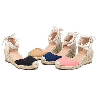 Link to Brinley Co Comfort Womens Espadrille Wedge Similar Items in Women's Shoes