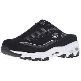 Skechers Sport Women's D'lites Resilient Slip On Mule Sneaker, BlackWhite
