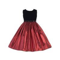 Crayon Kids Girls Red Black Sequin Belt Junior Bridesmaid Dress