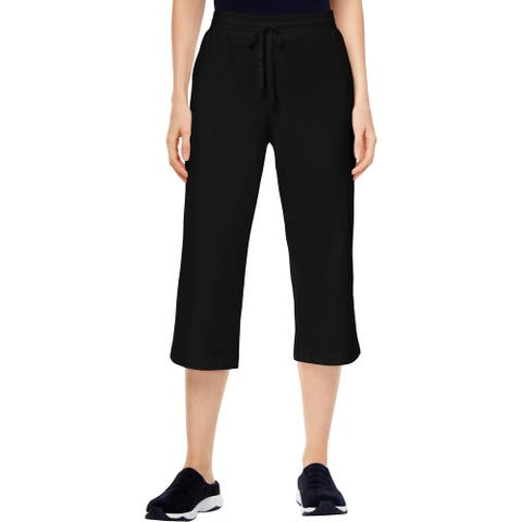 Karen Scott Sport Womens Capri Pants Fitness Workout