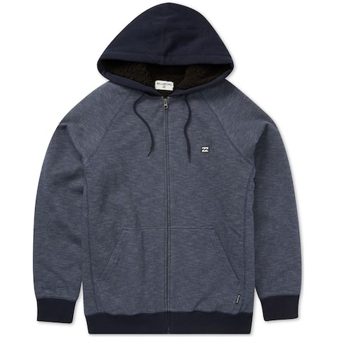 Billabong Mens Striped Hoodie Sweatshirt, Blue, Medium