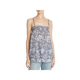 Vince Womens Cami Floral Print Shell