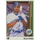 Bruce Fields Seattle Mariners 1989 Upper Deck Autographed Card  This item comes with a certificate