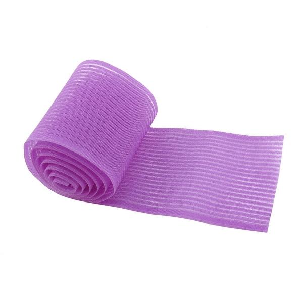Women Plastic Magic Bangs Sticker Hook Loop Square Tape Fringe Care Tool Purple