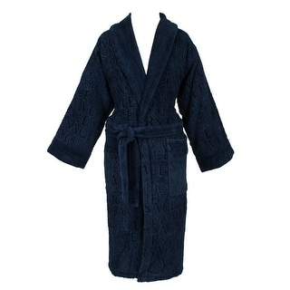 Versace VHA9969 002 Navy Blue Versace Signature Bathrobe