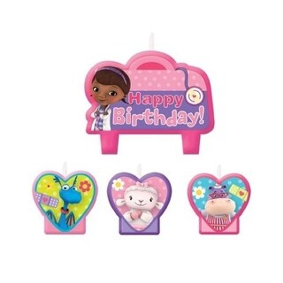 Doc McStuffins Birthday Party Cake Candles - 4ct