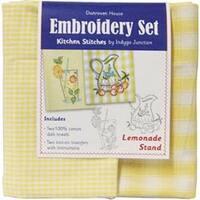 "20""X28"" - Lemonade Stand Kitchen Stitches Embroidery Set"