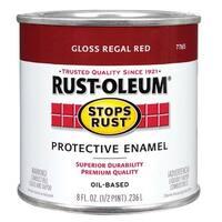 Rust-Oleum 7765-730 Stops Rust Oil Based Rust Preventive Protective Enamel Paint, 1/2 Pint, Regal Red