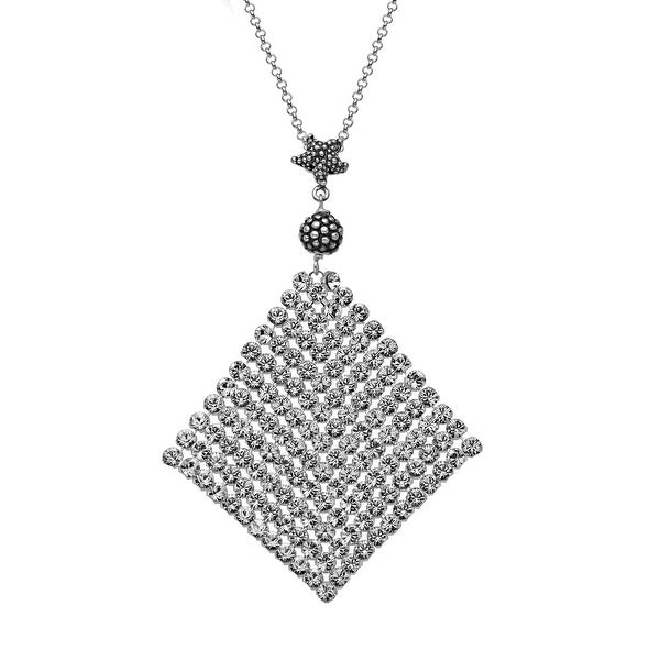 Aya Azrielant Mesh Pendant with Swarovski Crystals in Sterling Silver