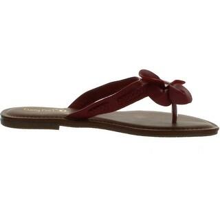 Bamboo Women Warner-31 Flower Thong Sandals