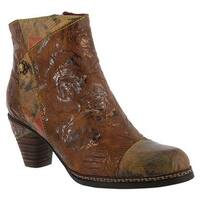 L'Artiste by Spring Step Women's Waterlily Ankle Boot Brown Multi Leather Combo