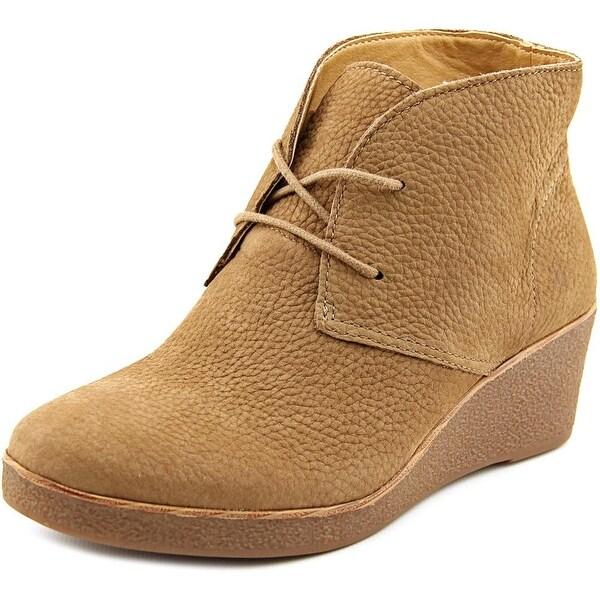 Lucky Brand Junes Women  Open Toe Leather Brown Wedge Heel