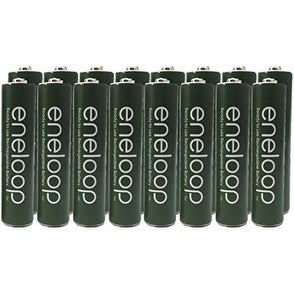 """Panasonic Eneloop 16 Pack AAA Nimh Pre-charged Rechargeable Batteries - Free Battery Holder - Rechargeable 2100 Times """" Special"""