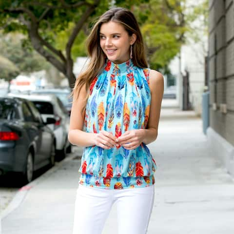 1647fc521139d8 Buy Polyester Sleeveless Shirts Online at Overstock | Our Best Tops ...
