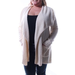 Womens Ivory Long Sleeve Open Cardigan Casual Sweater Size S