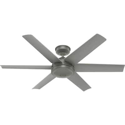 """Hunter 52"""" Jetty Outdoor Ceiling Fan with Wall Control, Wet-Rated"""