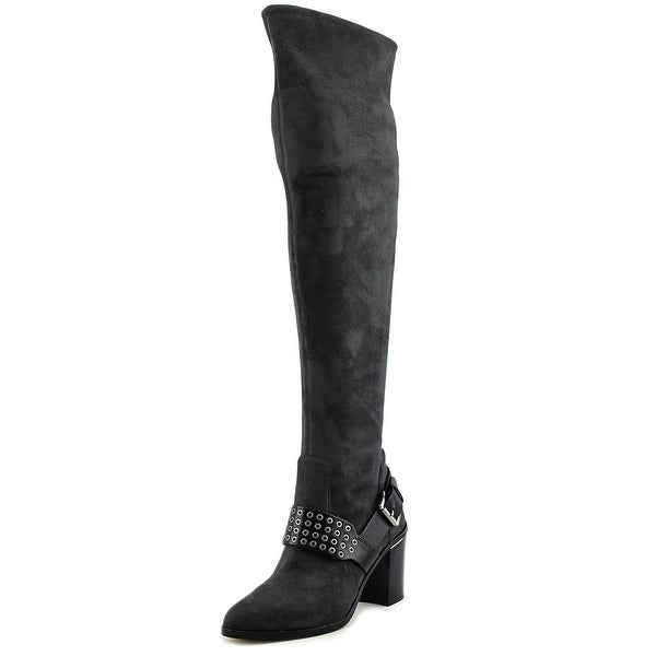 Michael Michael Kors Brody OTK Boot Women Suede Gray Over the Knee Boot