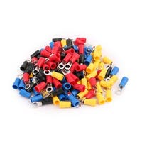 120 Pcs RV2-4 Ring Tongue Type Pre Insulated Terminals Assortment Set