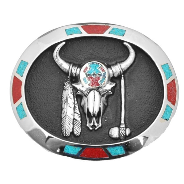 Medicine Bull Belt Buckle - One size