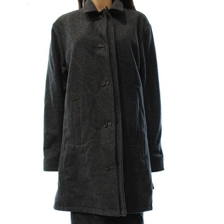 Designer Brand NEW Gray Women's Size Medium M Button Down Wool Coat