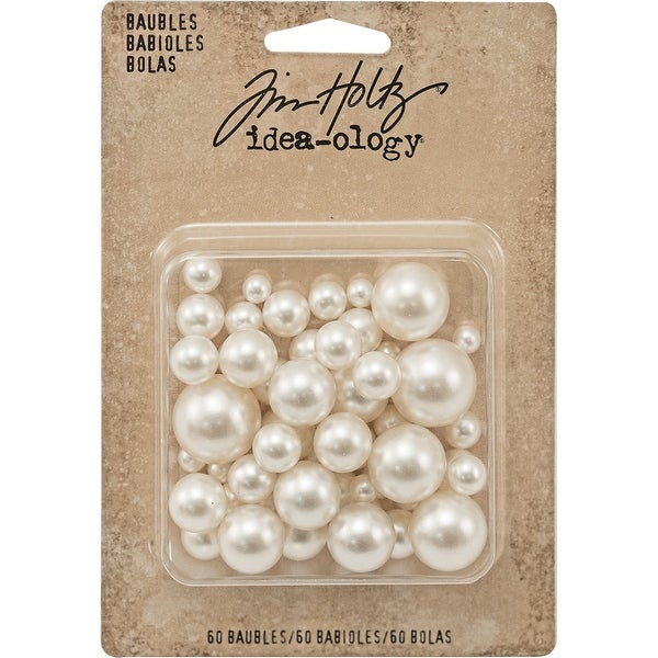 "Idea-Ology Baubles .313"" To .75"" 50/Pkg-Undrilled Cream Pearls"