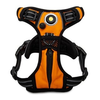 Headlight Harness Dog Safety Harness (Orange/Medium)