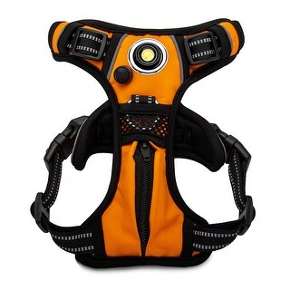 Headlight Harness Dog Safety Harness (Orange/Small)
