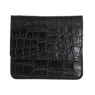 Dolce & Gabbana Black Pattern Leather Condom Case Holder - One size