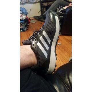 Men's adidas Duramo 7 Trail Running Shoe Black/Silver Metallic/Clear Onix