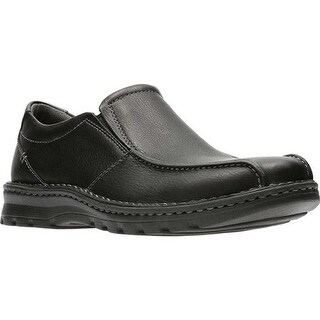 Clarks Men's Vanek Step Slip-On Black Oily Full Grain Leather